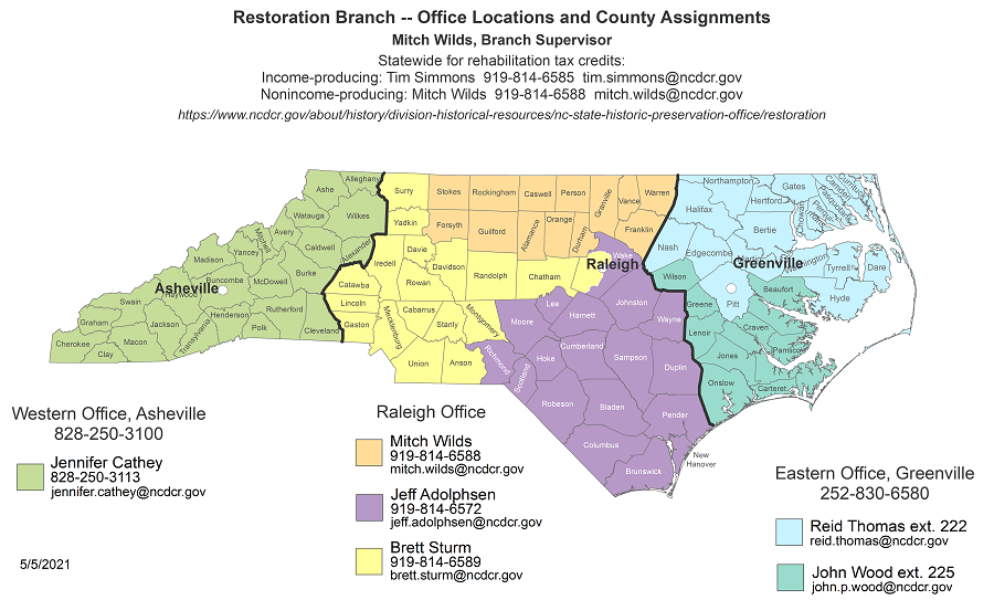 Restoration Branch - County Assignments (5/19/2020)