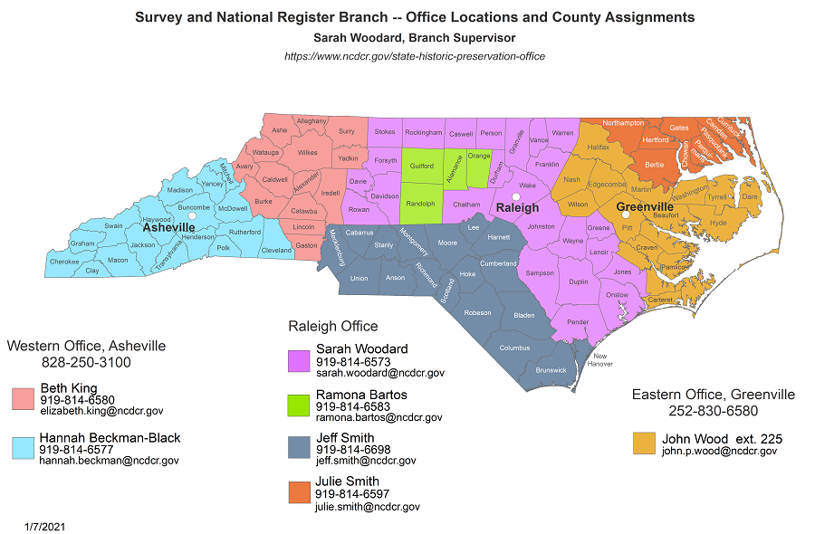 Survey and National Register Branch - County Assignments