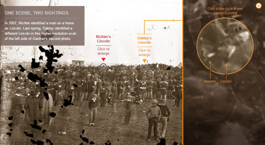 Part of the interactive from Smithsonian Magazine showing Oakley's discovery.