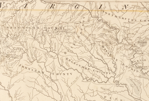 1775 Map of Bute County, North Carolina