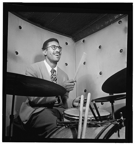 Max Roach performing in the 1940s