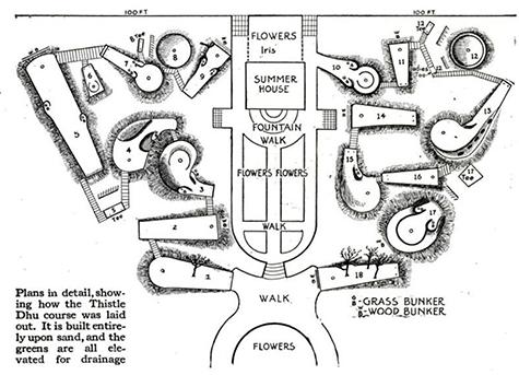 North Carolina Mini Golf Course Map