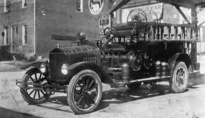A 1930s era fire truck