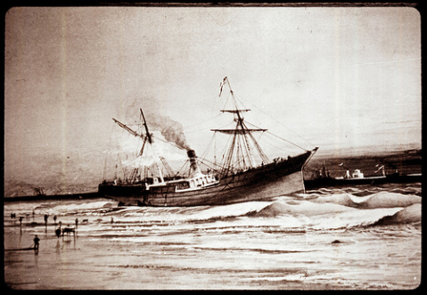 A copy of a painting of the Modern Greece from the Blockade Runner Museum in Carolina Beach. Image from State Archives