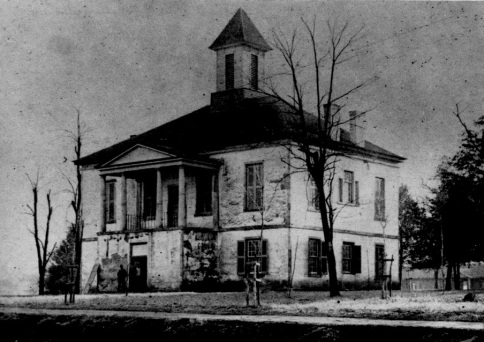 The 1835 Burke County Courthouse, where the gun fight took place. Image from the State Historic Preservation Office.