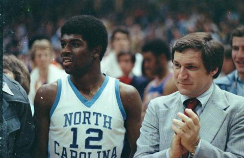Phil Ford with Dean Smith