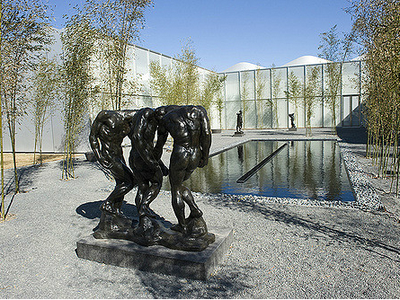 The Rodin Courtyard at the N.C. Museum of Art