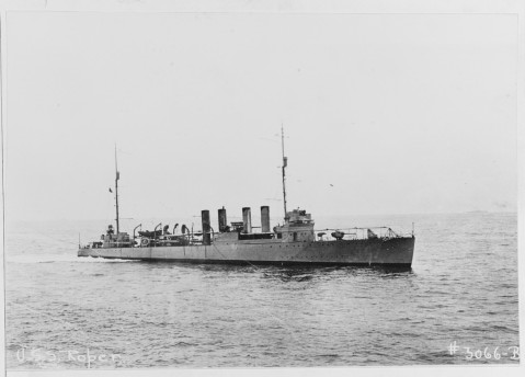 The USS Roper. Image from the Naval History and Heritage Command.
