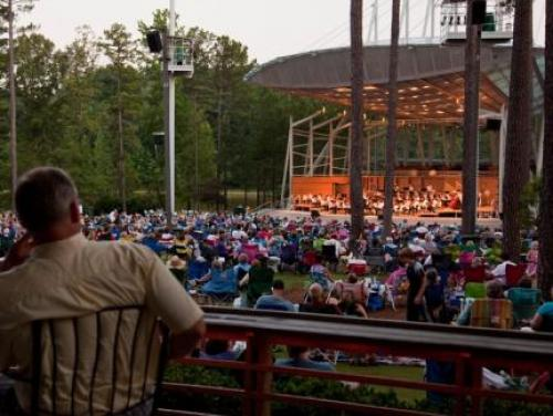 An outdoor North Carolina Symphony concert in Cary
