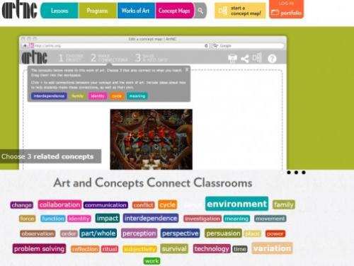 Screenshot of the ArtNC Home Page