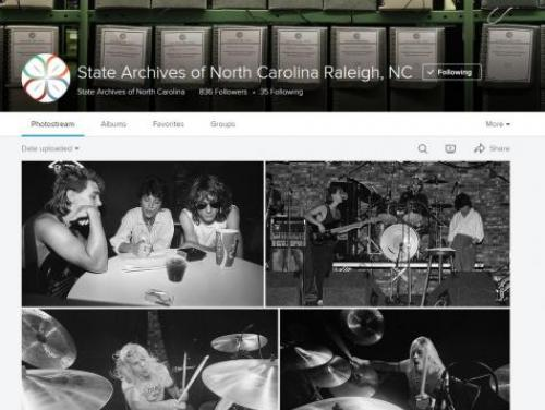 A Screenshot of the State Archives Flickr
