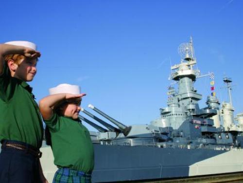 Saluting the Battleship North Carolina in Wilmington