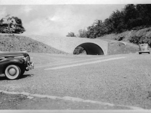 Entering the Blue Ridge Parkway in the 1940s