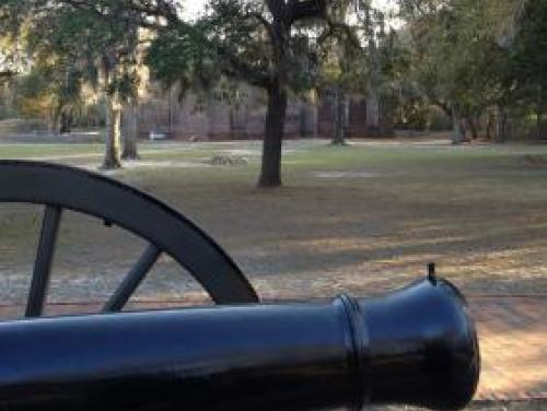Cannon Fire at Brunswick Town/Fort Anderson in Winnabow
