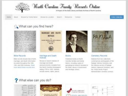 North Carolina Family Records Online