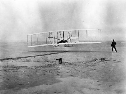 The Wright Brothers' First Flight in Kitty Hawk