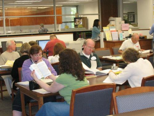 Genealogy Search Room at Government and Heritage Library
