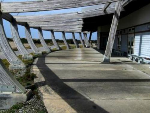 Entrance to the Graveyard of the Atlantic Museum in Hatteras