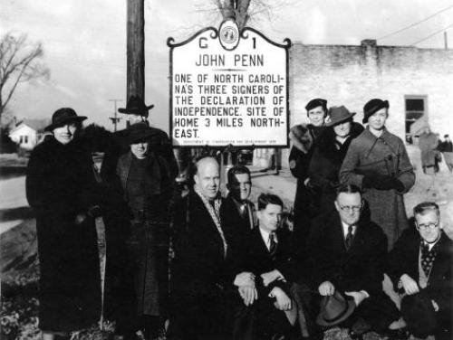 The First Highway Historical Marker is Dedicated in 1936
