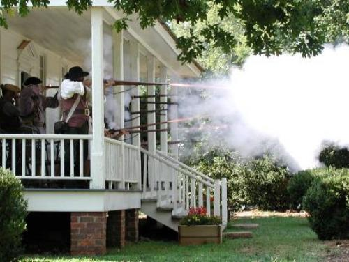 Gunfire Bursts at House in the Horseshoe