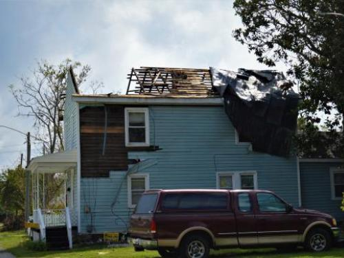 House severely damaged by Hurricane Florence