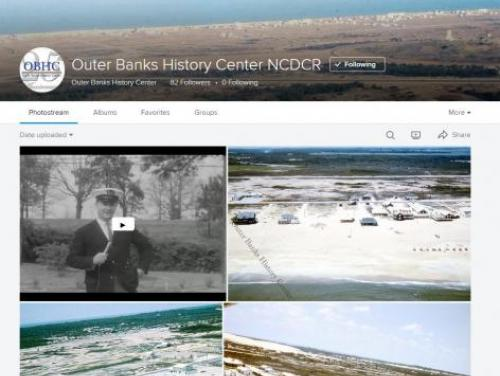 A Screenshot of the Outer Banks History Center Flickr