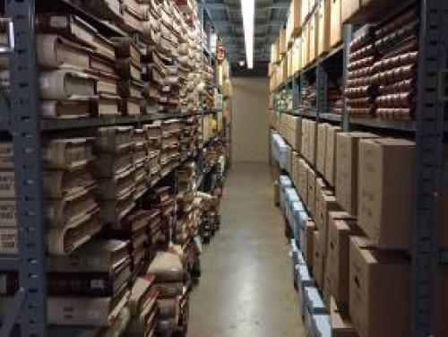 Older records in the stacks of North Carolina's State Records Center