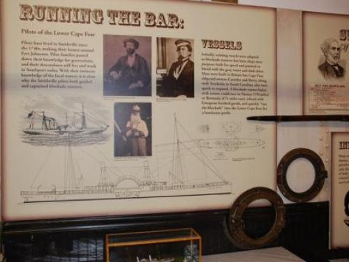 The Civil War Exhibit at the N.C. Maritime Museum in Southport