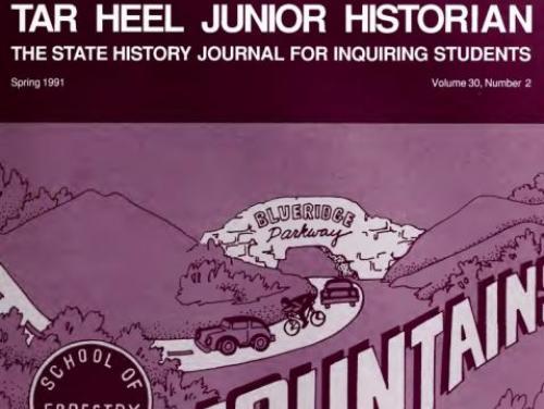 An old Tar Heel Junior Historian Association Magazine