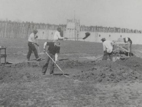 Archaeological excavation at Town Creek Indian Mound