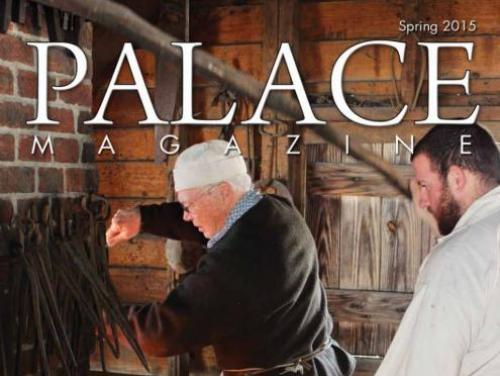 The cover of Palace Magazine, produced by Tryon Palace