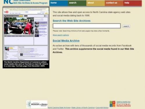 The State Government Web Archives Home Page