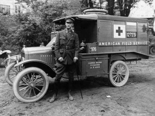 An ambulance corps soldier during World War I
