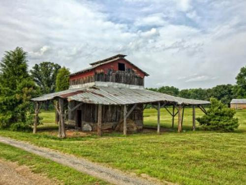 Tobacco Barn on rural NC farm.