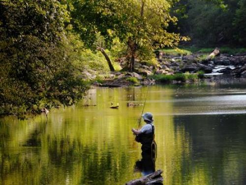 Fishing the Eno River