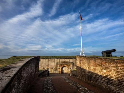 The Civil War-era fort at Fort Macon State Park