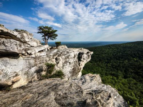 The summit at Hanging Rock State Park