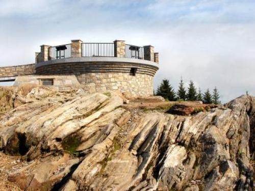 The observation deck at Mount Mitchell State Park