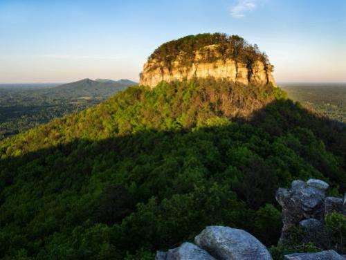 The peak of Pilot Mountain
