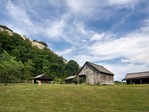 A restored mid-19th century mountain farm in the shadow of Stone Mountain
