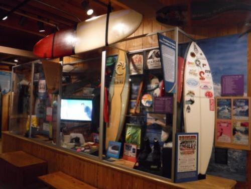 Surfing museum exhibit