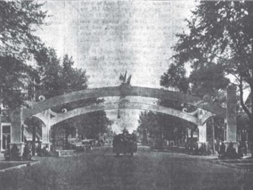 A World War I victory arch in Kinston