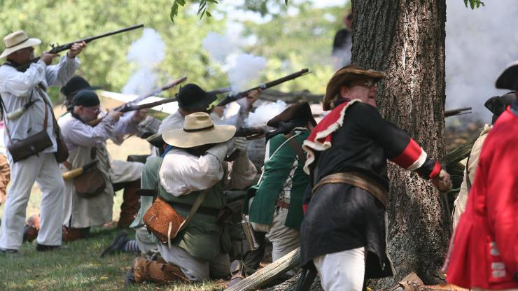 The 2011 re-enactment at House in the Horseshoe