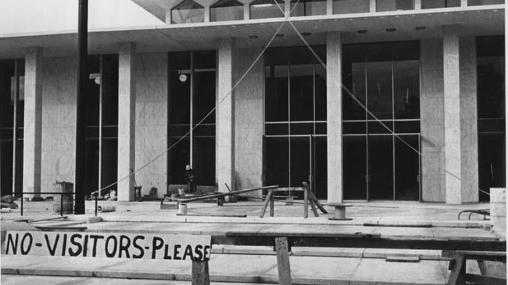 The Legislative Building under construction circa 1960-1963. Image from the N.C. Museum of History's collection