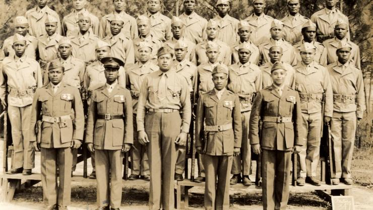 Montford Point Marines. Image from the Southern Historical Collection (link is external) at UNC-Chapel Hill