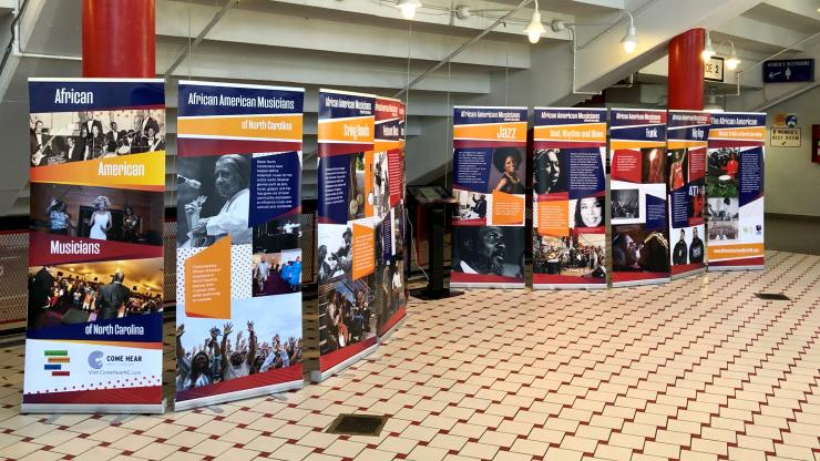African American Musicians exhibit set up at North Carolina State Fair 2019