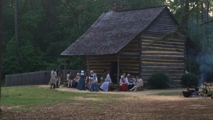The 1780 Allen House and re-enactors portraying its residents