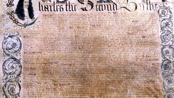 The First Page of the Carolina Charter