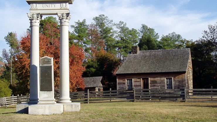 Bennet Place Unity Monument celebrates the end of the Civil War