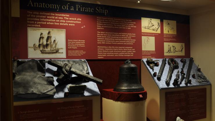 Blackbeard's Queen Anne's Revenge Exhibit at the N.C. Maritime Museum at Beaufort
